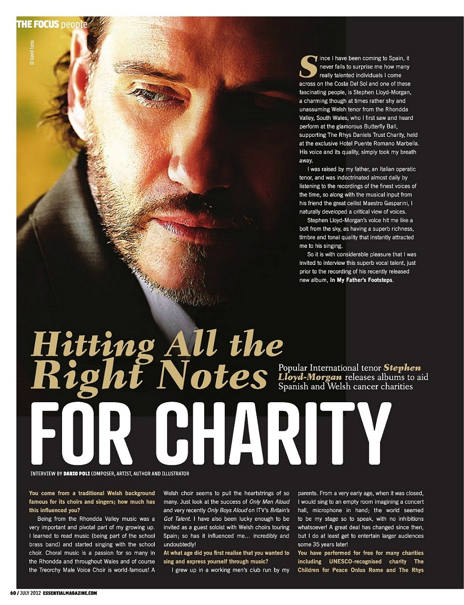Stephen Lloyd-Morgan In My Father's Footsteps Essential Marbella Magazine